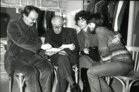 Marcel Cuvelier, Eugène Ionesco, Thérèse Quentin, Marie Cuvelier © Maki