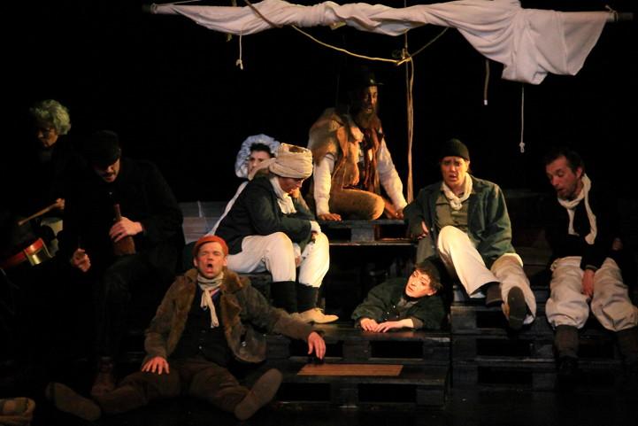 Les Matelots du « gaillard d'avant» dans « Moby Dick» mis en scène par Chantal Melior © DR