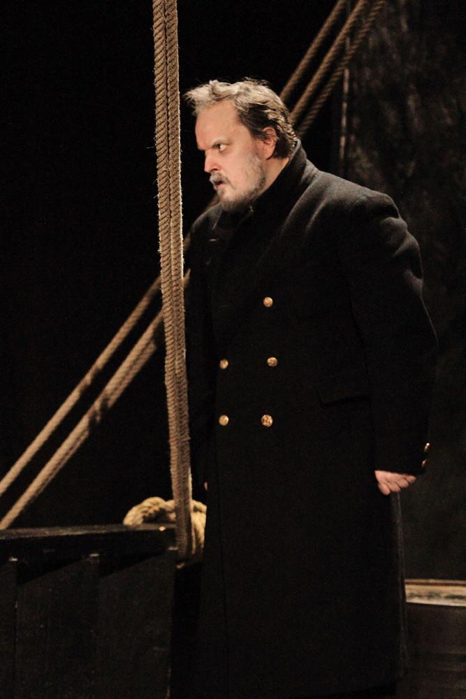 François Louis dans « Pippin tombe à l'eau» d'après « Moby Dick » ©Bernard Quérard