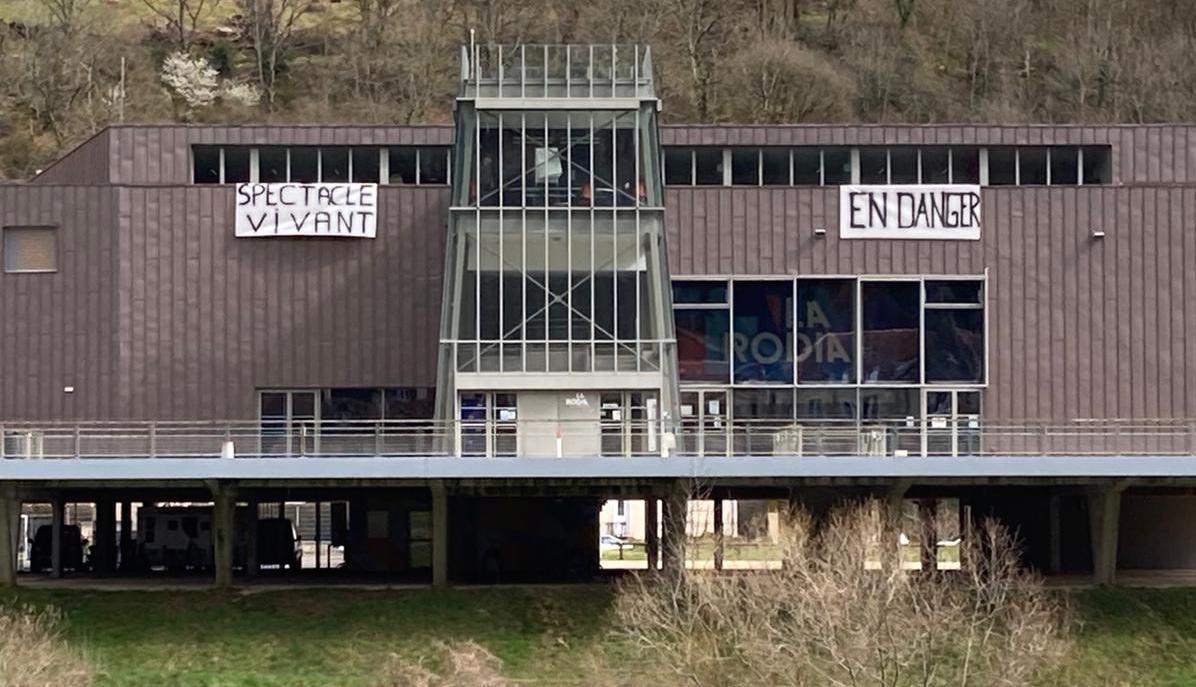 CDN-Besançon-occupé © Coordination des intermittents et précaires-Franche-Comté